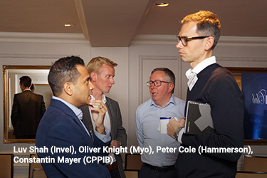 Luv Shah (Invel), Oliver Knight (Myo), Peter Cole (Hammerson), Constantin Mayer (CPPIB)